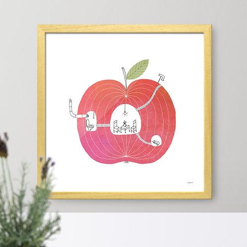 Apple print for kids' room