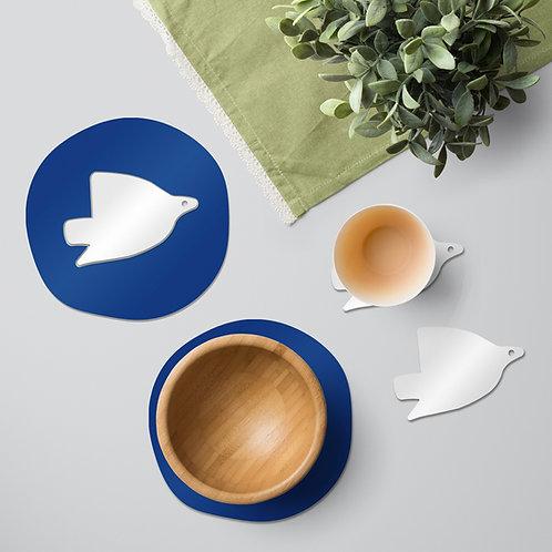 White Dove colourful tableware set
