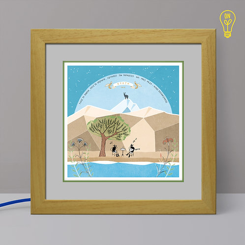 Crete Illustrated Light Box