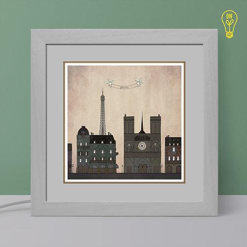 Paris Illustrated Light Box
