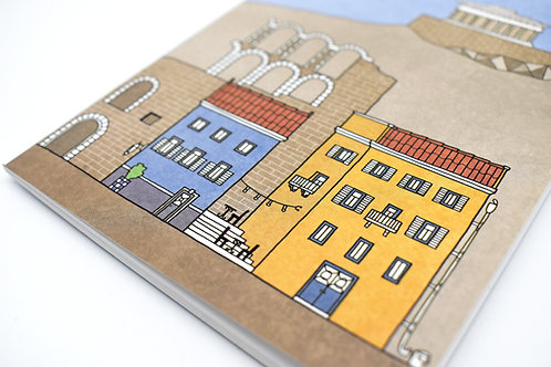 Athens illustrated cover notebook