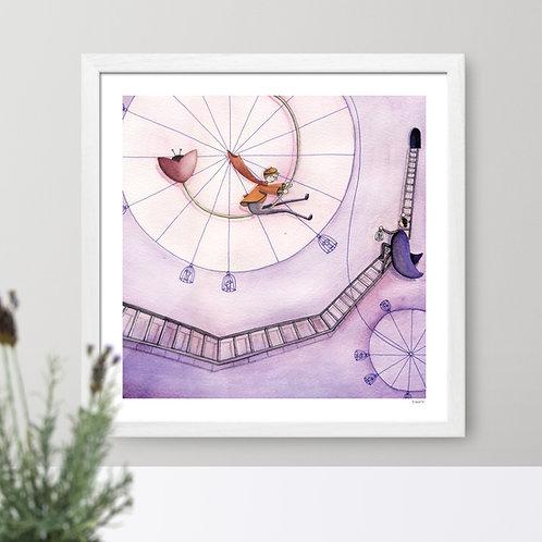 """The Bike"" print for kids' room"