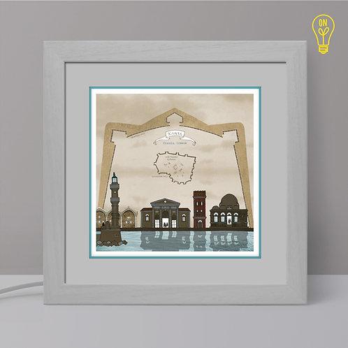 Chania Illustrated Light Box