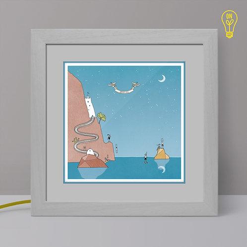 Amorgos Illustrated Light Box