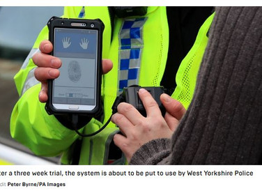 UK police are now using fingerprint scanners on the streets to identify people in less than a minute