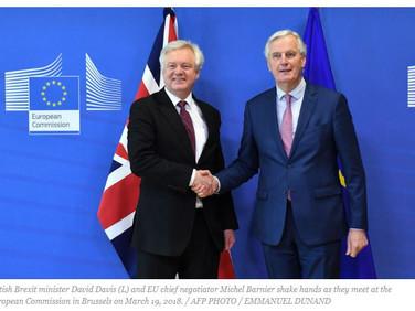 'Good progress' toward Brexit transition deal with EU