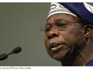 Obasanjo expresses surprise, supports Africa free trade
