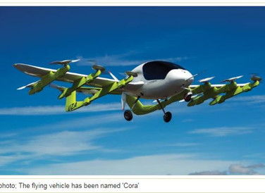 Google co founder's flying taxi takes to the skies in New Zealand