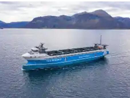 World's 1st zero-emission container vessel, Yara Birkeland, delivered