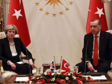 Protests break out in London as Erdogan meets Queen, May