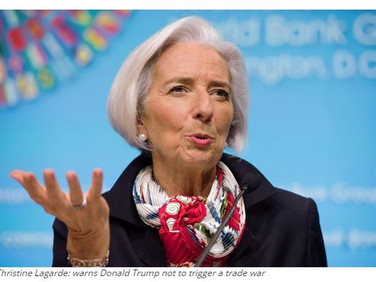 IMF's Lagarde to Trump: No winner in trade war