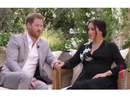 Prince Harry tells Oprah racism was a 'large part' of why he and Meghan Markle decided to leave