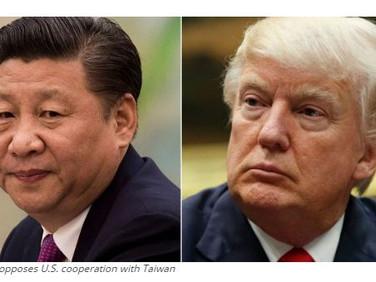 China warns U.S. over ties with Taiwan