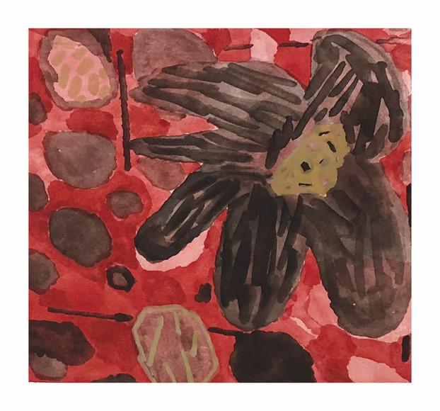 花のドローイング