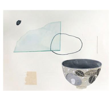 ガラスと石とお椀
