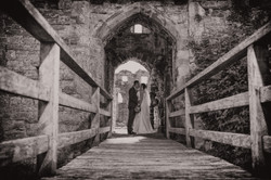 Wedding Coity Castle, South Wales