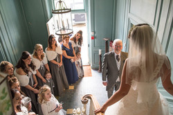 Barn wedding photo, South Wales