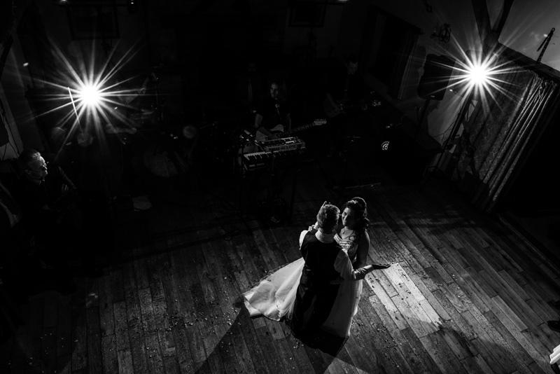 Barn wedding photo - 1st dance