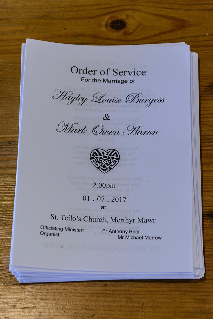 Order of Service St. Teilo's Church, Bridgend