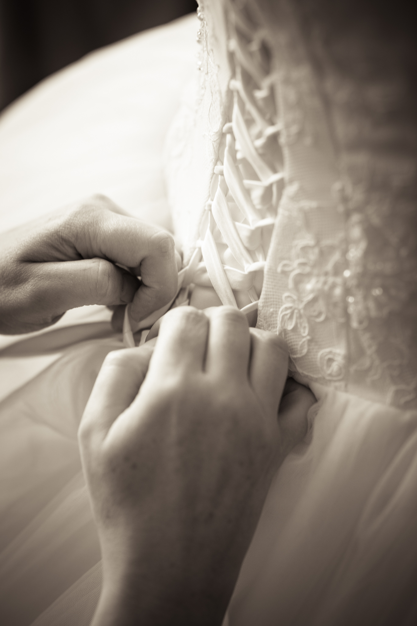 Wedding dress detail photo