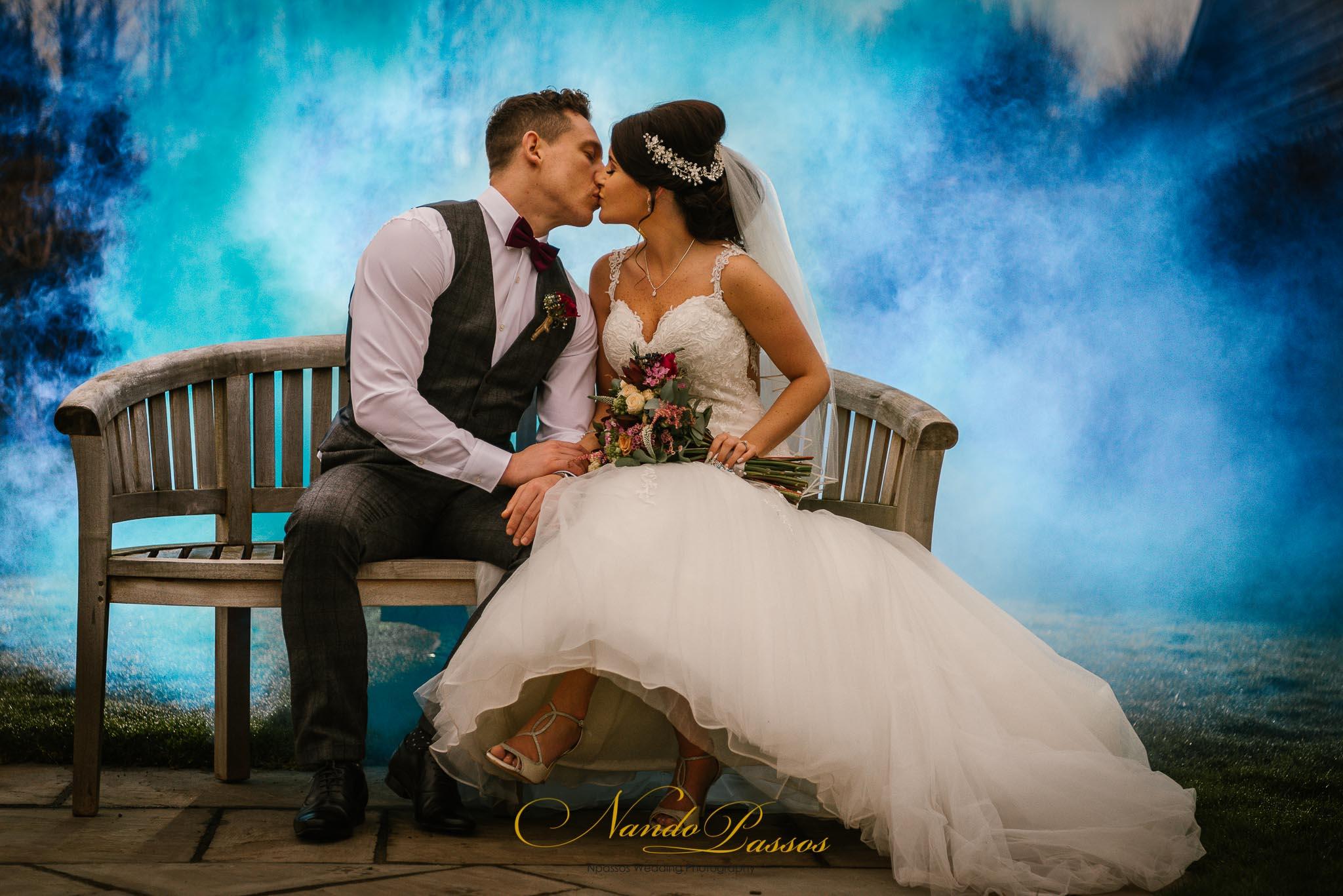 The Barn at Brynich wedding smoke