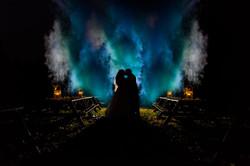 wedding photo smoke effects