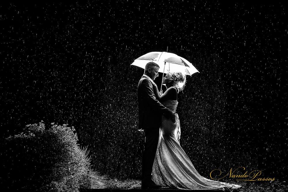 AFTER DARK WEDDING WITH RAIN