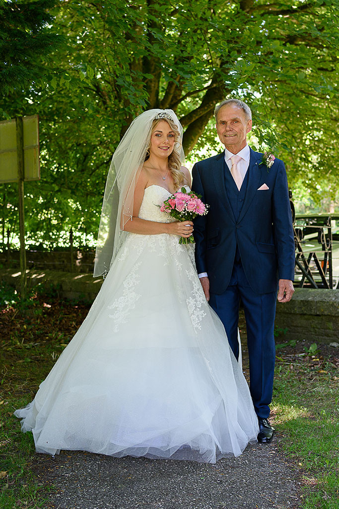 Bride and Father - Wedding Photography in Bridgend