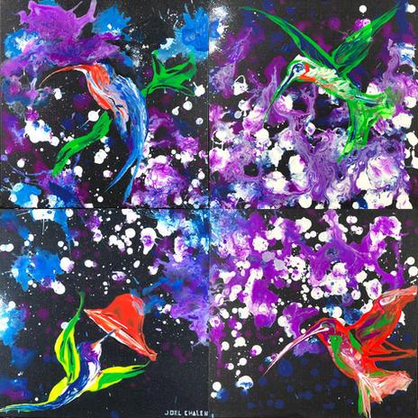 Hummingbirds in chroma by Joel Chalen