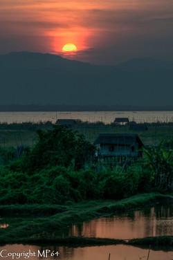 Lac Inle - Coucher du soleil