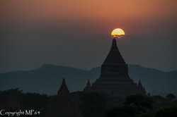 Bagan - Coucher du soleil