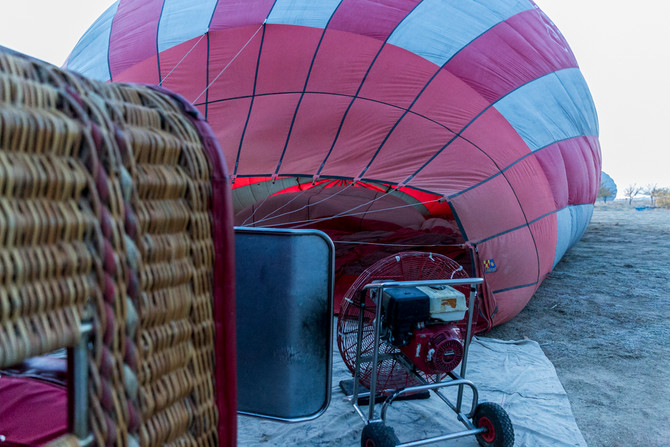 Hot air balloon ride over Cappadocia, Turkey !