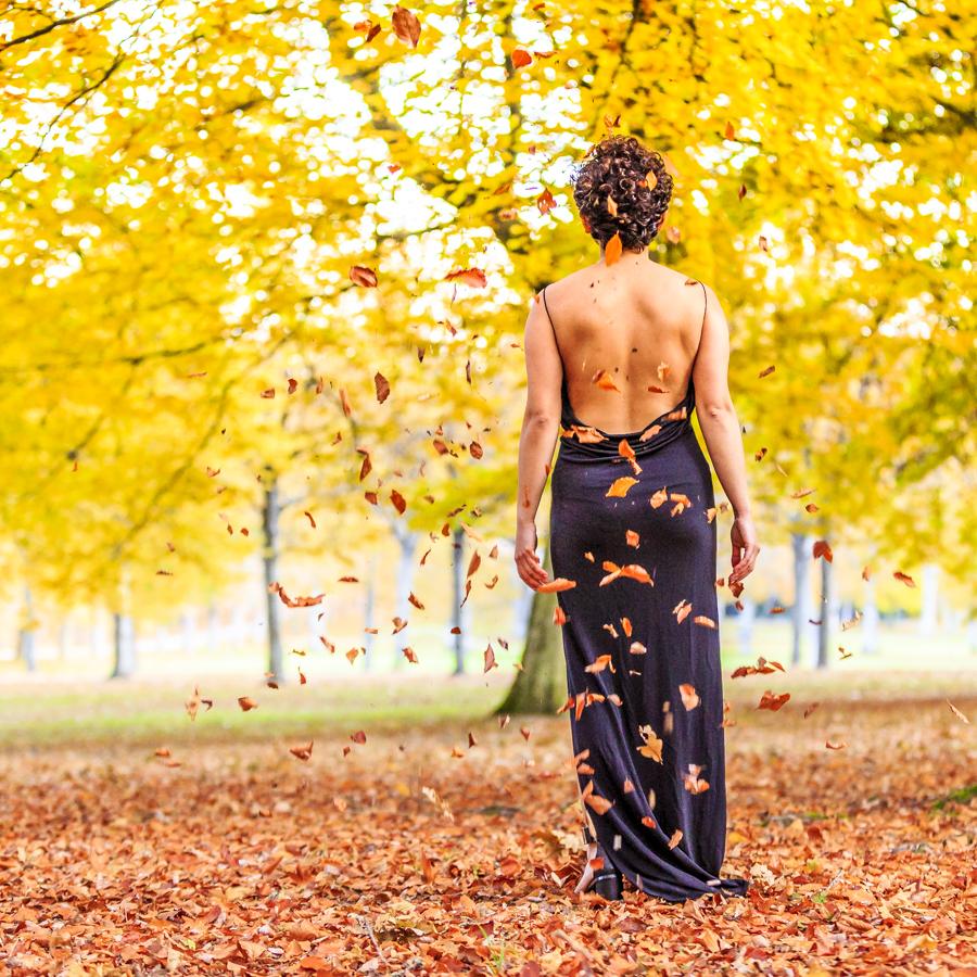Artfoto, kvinna, höst