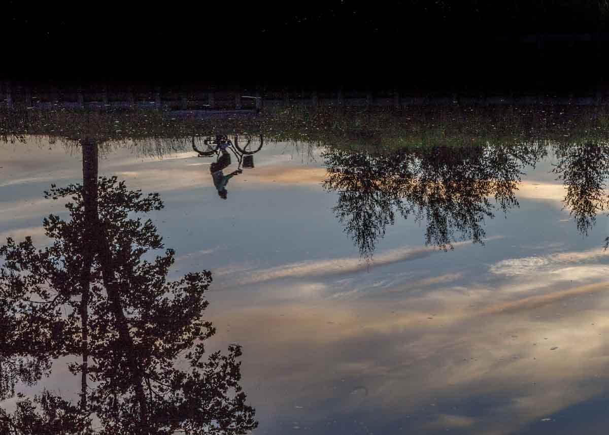 reflektion, resefoto
