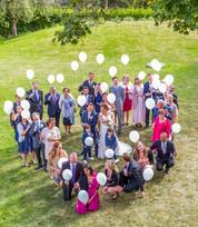 Bröllopsfotografering, Brudtärnor, Bröllop, Brudklänning, Brudbuket, Hjärta, Balong