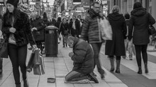Beggar in Drottninggatan