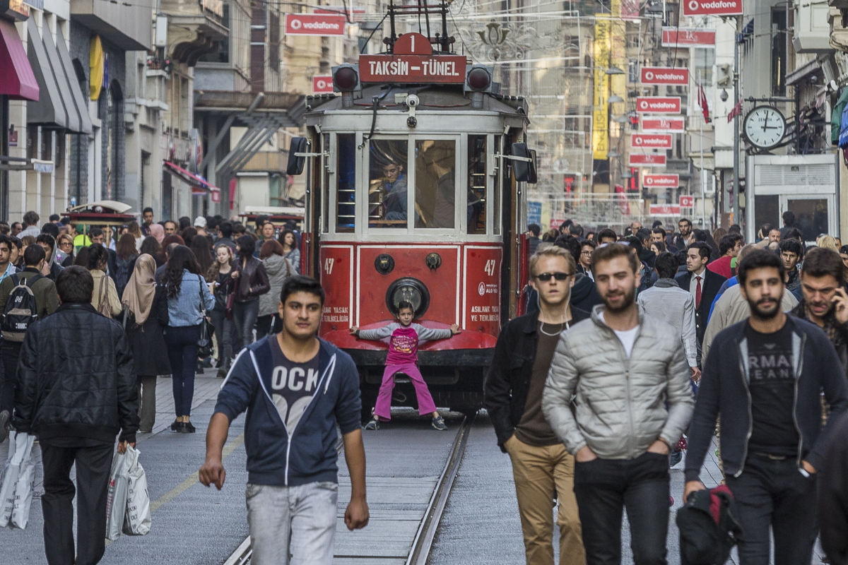 Turkiet, Taksim train