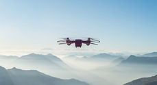 Drone über die Berge