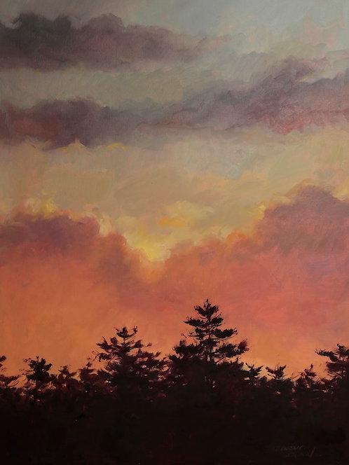 Route 17 Evening Sky by Sandra Leinonen Dunn