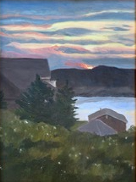 Sunset Over Manana by Sally Paterson