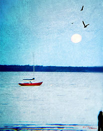 A.Tracy_Big MoonRed Boat_limitedEditionP