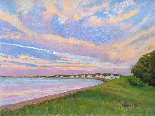 Ferry Beach Sunset by Cheryl DiCara