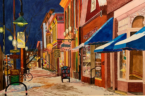 Winter Evening on Maine Street by Patricia Smith