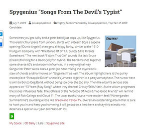 Powerpopaholic -Songs From The Devil's Typist Review