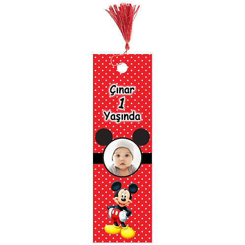 Micky Mouse Kişiye Özel Kitap Ayracı 16 Adet