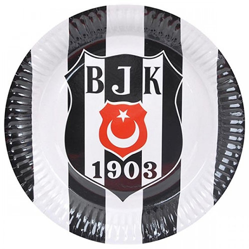 Beşiktaş Lisanslı Karton Tabak 8 Adet