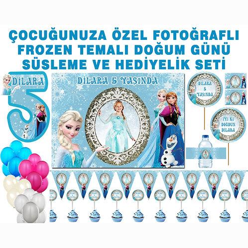 Frozen Elsa Karlar Ülkesi Doğum Günü Parti Seti