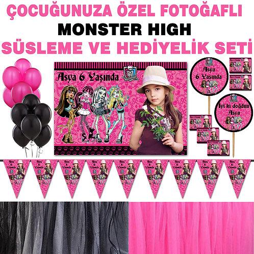 Monster High Doğum Günü Dekorasyon Süsleme ve Hediyelik Seti