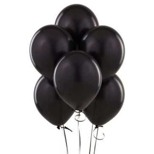Siyah Metalik Balon 10 Adet