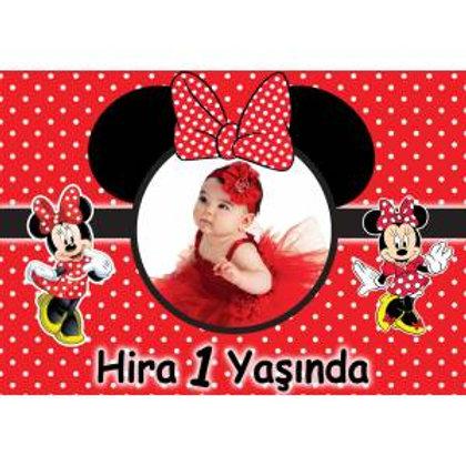 Kırmızı Minnie Afiş 50x70 cm